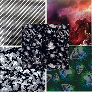 Hydro Dip Film Hydrographic Film Water Transfer Printing Hydro Dipping Variety #1 5 Pack Film 19