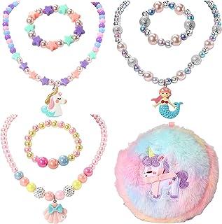 گردنبند و دستبند 3 بچگانه PinkSheep Kids، گردنبند و دستبند پروانه یکنواخت و پروانه 3 مجموعه
