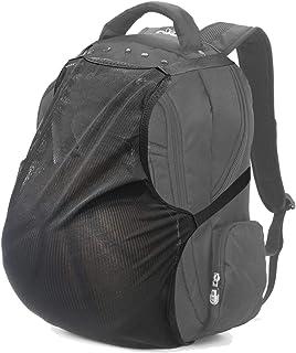 BUMOVE Backpacks Ball Holder, Soccer Net Bag for Basketball, Soccer, Volleyball & Football, Fit Most Backpack (Black)