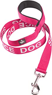 Service Dog Leash Wrap, Emotional Support Dog Leash with Neoprene Handle and Reflective Lettering - Supplies or Accessories for Service Dog Vest, Emotional Support Vest, or ESA Harness
