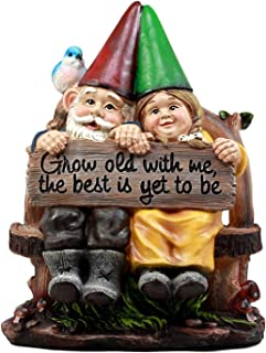 Ebros Grow Old with Me Mr and Mrs Gnome Statue 11