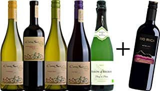 コノスル 人気のオーガニック赤白ワイン(赤2本,白2本)とスパークリング オーガニック白ワイン1本+赤ワイン1本 飲み比べセット [ 750ml×赤3本,白2本,白泡1本 ]