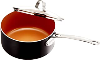 Gotham Steel Nonstick 3-Quart Stock Pot with Ceramic and Titanium Copper Surface and Tempered Glass Lid – Dishwasher Safe