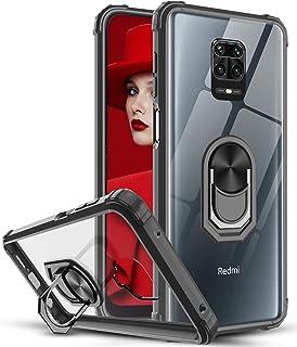 LeYi Funda Xiaomi Redmi Note 9s / Note 9 Pro,Transparente Carcasa con 360 Grados iman Soporte Silicona Bumper Armor Case p...