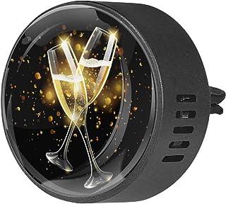 2pcs diffuseur d'aromathérapie diffuseur d'huile essentielle de voiture clip d'aération célébration acclamations bière