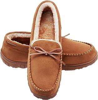 LA PLAGE شباشب رجالية بدون كعب للرجال داخل المنزل/خارجه بطانة قطيفة ميكروسويد سهلة الارتداء أحذية المنزل