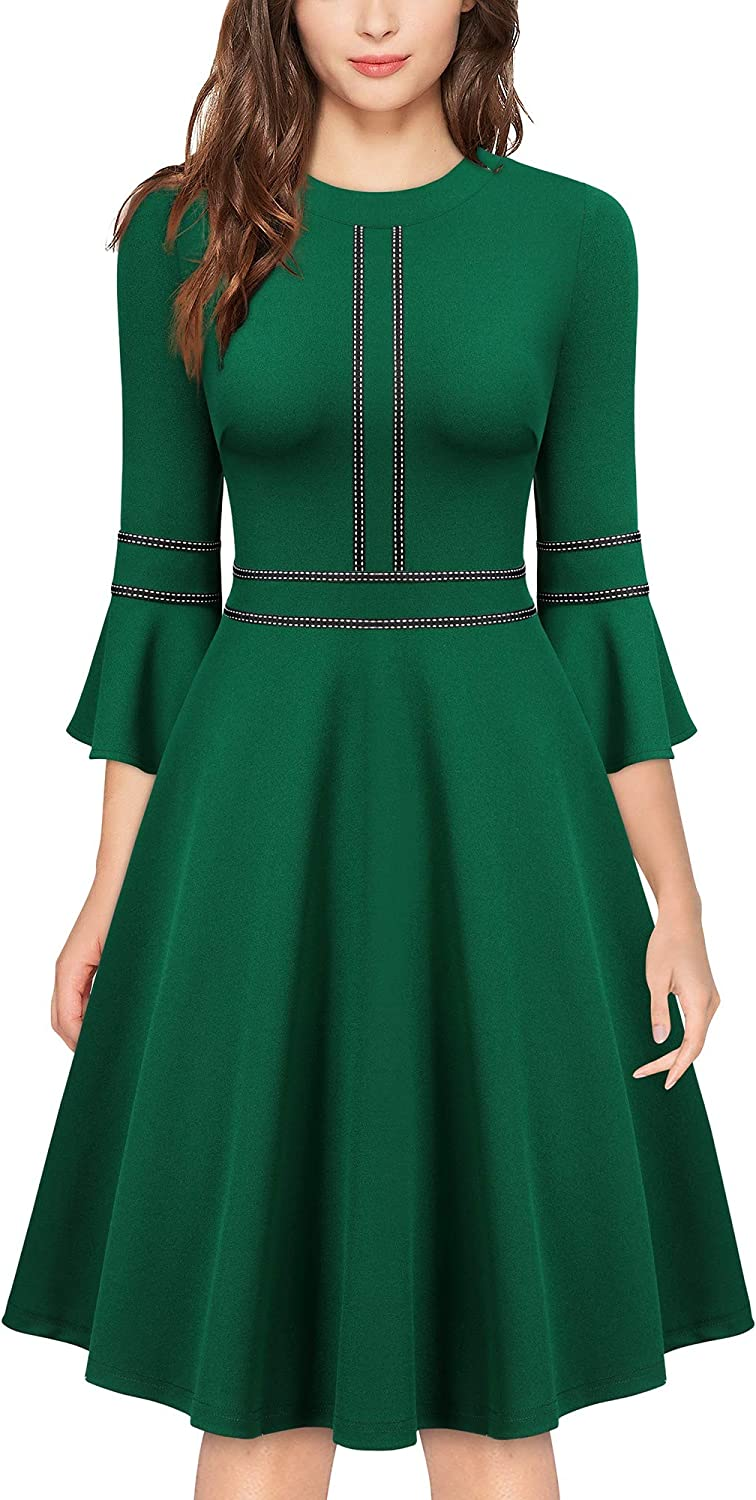 MISSMAY Women's Max 80% OFF 1950s Retro Bell Swing Party New mail order Cocktail Sleeve Dre