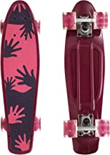 WhiteFang Skateboard Colorful Wheels, Complete Skateboard 22 inch with Cool Painting Grip, Cruiser Skateboards for Kids Gi...