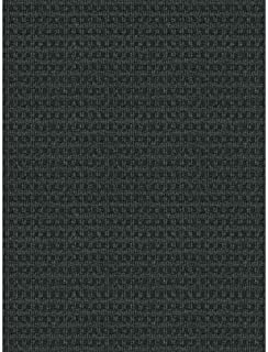 Checkmate Charcoal/black 6 Ft. X 8 Ft. Indoor/outdoor Area Rug, Features Durable Nonwoven Construction and Is Solution Dyed Throughout the Fibers to Resist Fading, Even in Direct Sunlight