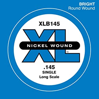 D'Addario XLB145 Nickel Wound Bass Guitar Single String, Long Scale, .145