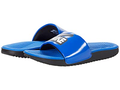 Nike Kids Kawa Slide (Little Kid/Big Kid) (Game Royal Heather/White/Black) Kids Shoes