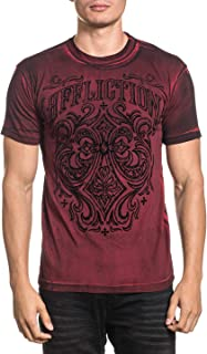 Affliction Men's Red Ironside Short Sleeve Tee