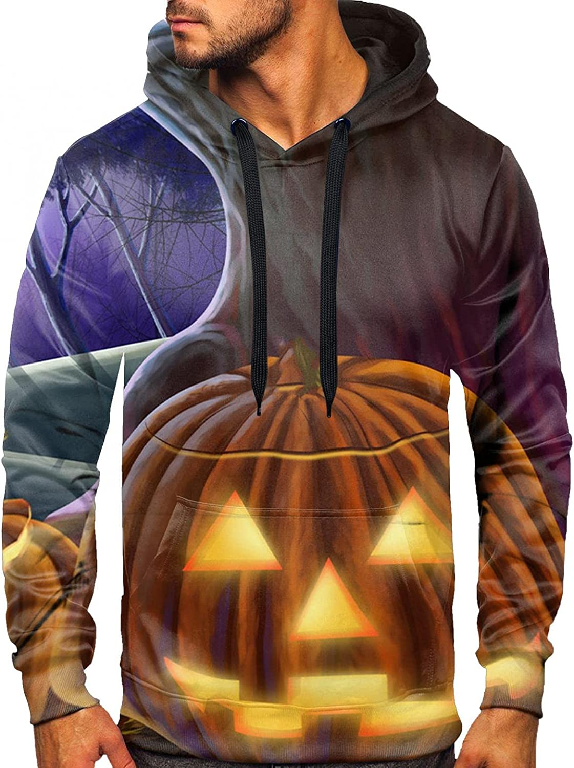 Mens online shop Fashion Hooded Jerseys Long 3D 67% OFF of fixed price Printing Halloween Sleeve Sp