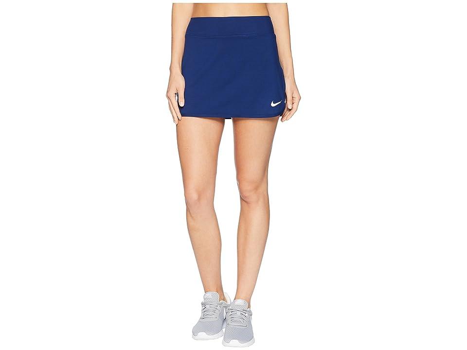 Nike Court Pure Tennis Skirt (Blue Void/White) Women