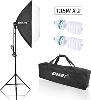 Emart 1350W Photo Video Studio Softbox Lighting Kit, 24