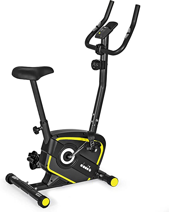 Cyclette magnetica, fino a 110 kg di peso unisex adulto, nero/giallo diadora fitness lilly evo B082MW313R