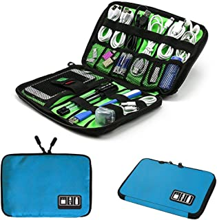 Electronics Accessories Organizer Bag,Portable Tech Gear Phone Accessories Storage Carrying Travel Case Bag, Headphone Ear...
