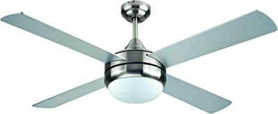 Harbor Breeze Beach Creek 44 In Brushed Nickel Integrated Led Indoor Downrod Or Close Mount