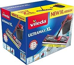 Vileda Ultramax Floor Mop Complete Set XL 42 cm XL Version Microfibre Cover and Bucket with Power Press