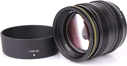 Kamlan 50mm F1.1 APS-C Large Aperture Manual Focus Lens Standard Prime Lens for Panasonic, Olympus Micro Four Third, M4/3 Mirrorless Cameras