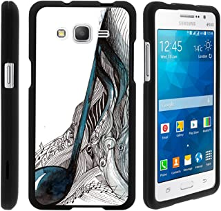 TurtleArmor | Compatible with Samsung Galaxy Grand Prime Case | G530 | Go Prime [Slim Duo] Slim Fitted Compact Hard Protector Snap On Case on Black Music Design - Artistic Music Notes