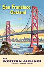 Western Airlines - San Francisco - (c. 1953) - Vintage Advertisement (9x12 Fine Art Print, Home Wall Decor Artwork Poster)