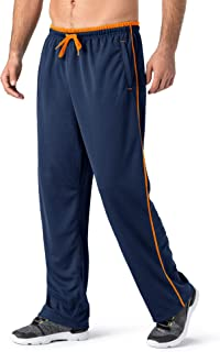 Sponsored Ad - TACVASEN Men's Casual Jogger Athletic Pants Open Bottom Mesh Sweatpants with Pockets