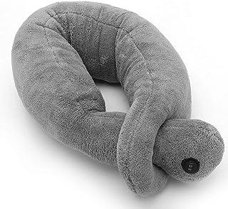Almohada de masaje de cuello de viaje, almohada eléctrica en forma de U Almohada de envoltura de cuello de avión para hombro espalda pierna lumbar relajar los músculos aliviar el estrés