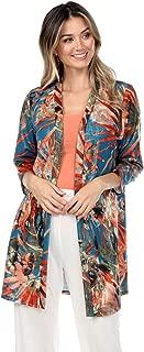 Jostar Women's ANA Duster Jacket Quarter Sleeve Print
