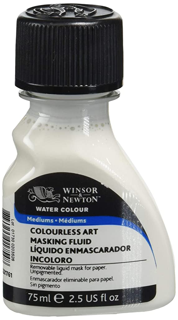 Winsor and Newton 75-Milliliter Watercolor Art Masking Fluid, Colorless - 3222-904