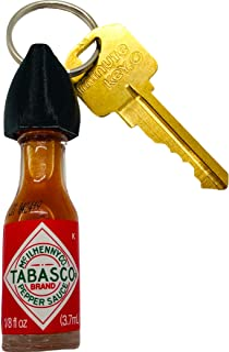 Tabasco Hot Sauce Keychain (Real Bottle of Tabasco)