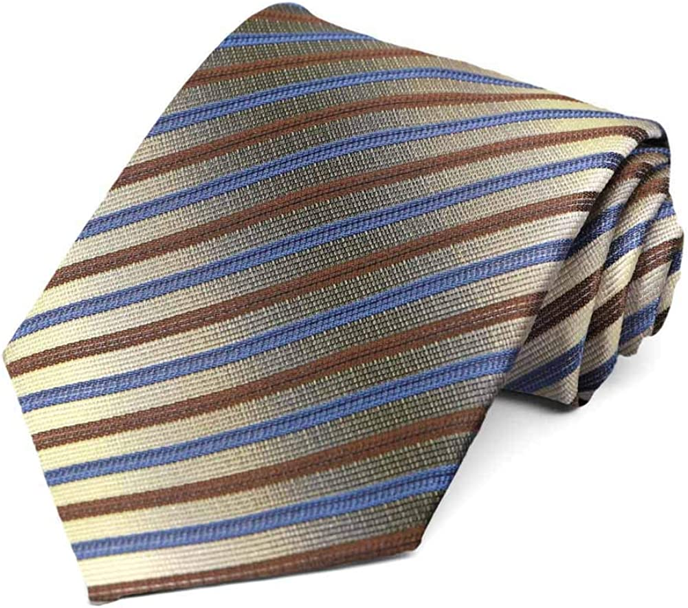 TieMart Special Purchase Tie and Pocket Square Set in Tower