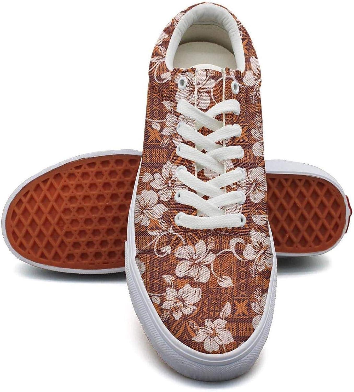 KSOWE3KD Woman Men's Mesh Up Sneaker shoes Tribal Vintage Hawaiian Hibiscus Flowers Cool Unisex Sports shoes