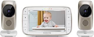 """Motorola MBP845CONNECT-2 5"""" Video Baby Monitor with Wi-Fi Viewing, 2 Cameras, Digital Zoom, Two-Way Audio, and Room Temper..."""