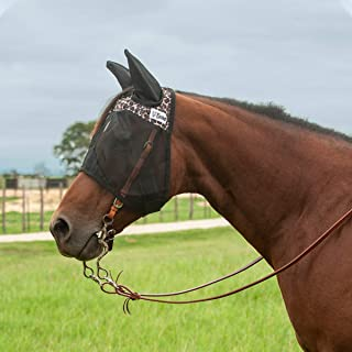 Cashel Quiet Ride Patterned Fly Mask Leopard Warmblood Standard with Ears