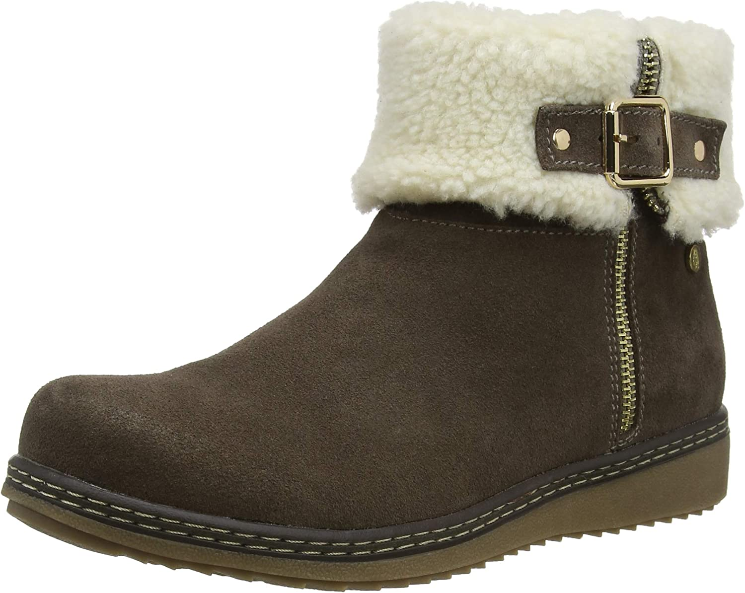 Hush Puppies Womens Maltese Collar Boot Grey Size UK 4 EU 37