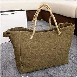 Women Bag Canvas Shoulder Bag Clutch Handbag Female Shopping Bag Travel Summer Beach Bag