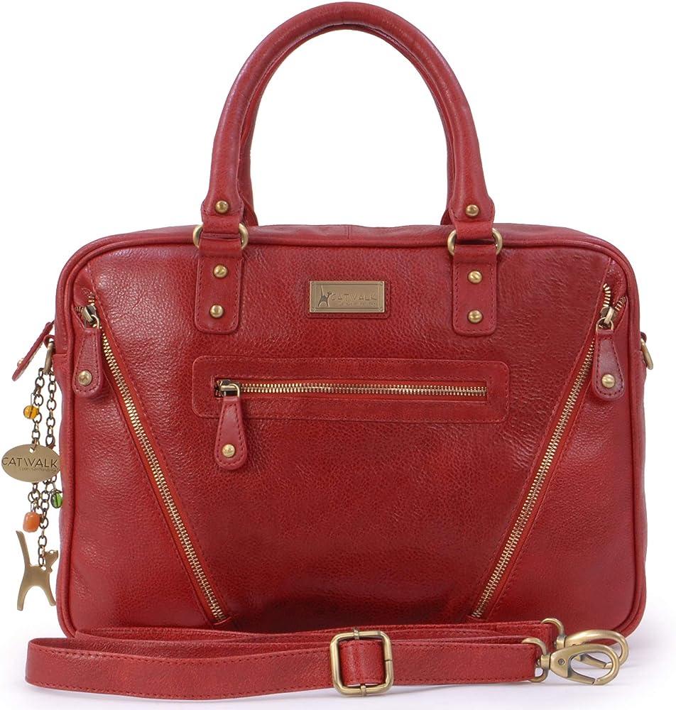 Catwalk collection handbags ,borsa/valigetta da lavoro a tracolla in vera pelle,porta pc,tablet 5060274975003