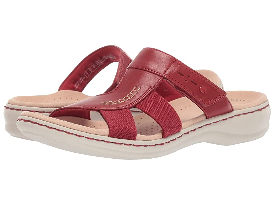 Clarks Leisa Emily (Red Leather/Textile Combo) Women