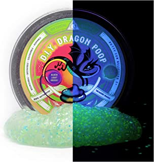 Mythical Slyme DIY Dragon Poop Putty - Glow in The Dark Glitter Slime with Blacklight Included