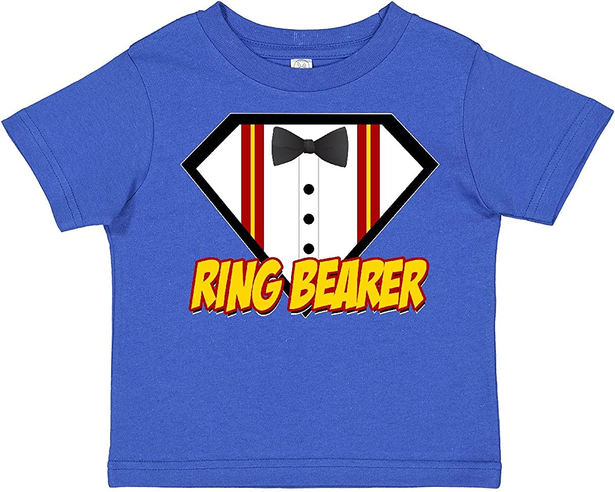 inktastic Ring Bearer Superhero Toddler T-Shirt