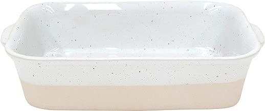 Casafina Fattoria Collection Stoneware Ceramic Small Rectangular Baker White L9.75