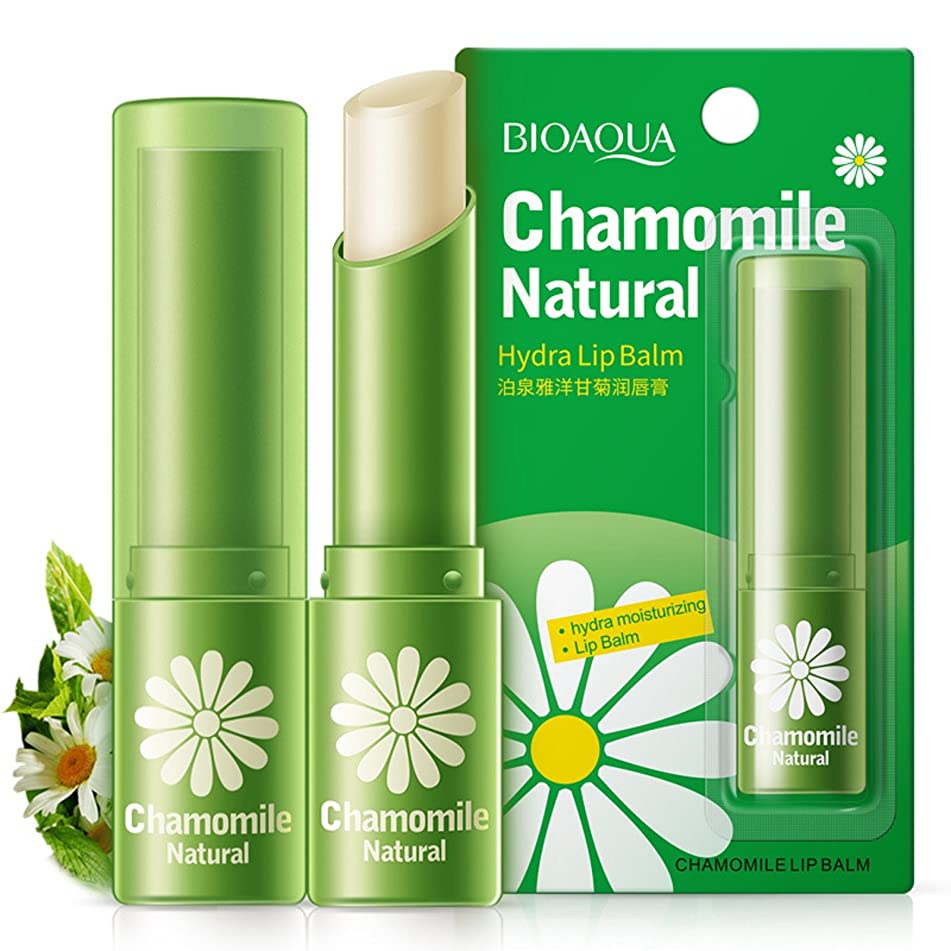 Wcysin Natural Moisturizing Lip Balm Aloe Vera & Vitamin E Beeswax Chapstick for Baby Child Adult Women Men (Daisy)