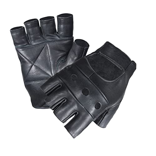 Active Men Leather Fingerless Black Driver Gloves Driving Motorcycle Bike Warm Mitten Gloves Back To Search Resultsapparel Accessories