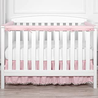 TILLYOU 3-Piece Padded Baby Crib Rail Cover Protector Set from Chewing, Safe Teething Guard Wrap...