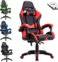 Advwin Executive Office Computer Gaming Chair Racer Recliner Chair Racing Seating Red(60 * 60 * 115-125cm)