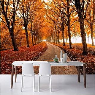 Nature Landscape Photo Wallpaper Autumn Maple Forest 3D Three-Dimensional Mural Space Expansion Restaurant Bedside Home De...