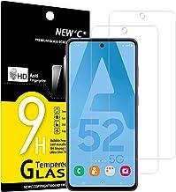 NEW'C Lot de 2, Verre Trempé Compatible avec Samsung Galaxy A52 / A52 5G, Film Protection écran sans Bulles d'air Ultra Résistant (0,33mm HD Ultra Transparent) Dureté 9H Glass