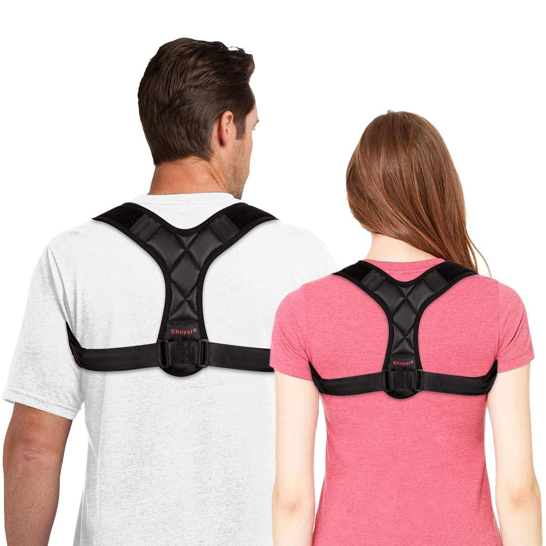 女性と男性の姿勢矯正器具 -  *バックサポートストラップとショルダーサポートストラップ - より丈夫で快適な、柔らかい柔らかい通気性のある生地 - 服やトップスに身に着けている、バスト84.84-96.52 cm