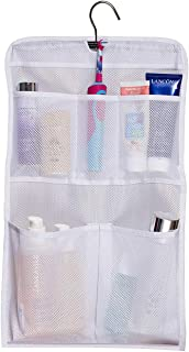 MISSLO Shower Caddy Organizer 5 Pockets Roll up Hanging Bathroom Accessories Storage for Camper, RV, Gym, Cruise, Cabin, College Dorm Shower, Small